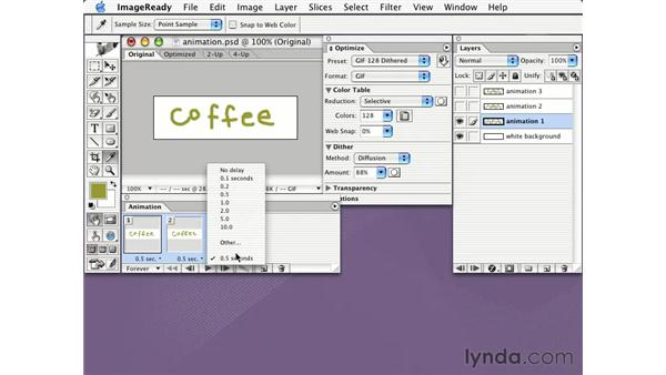 creating animated GIFs: Learning Photoshop CS for the Web