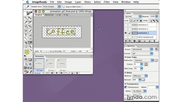 transparent animated GIFs: Learning Photoshop CS for the Web