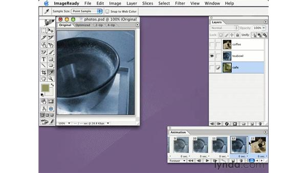 creating an animated slideshow: Learning Photoshop CS for the Web
