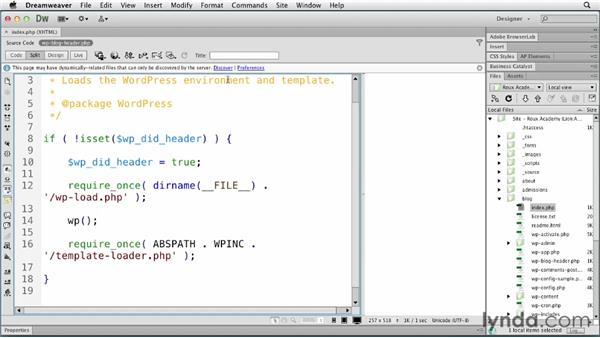 : Dreamweaver and WordPress: Core Concepts