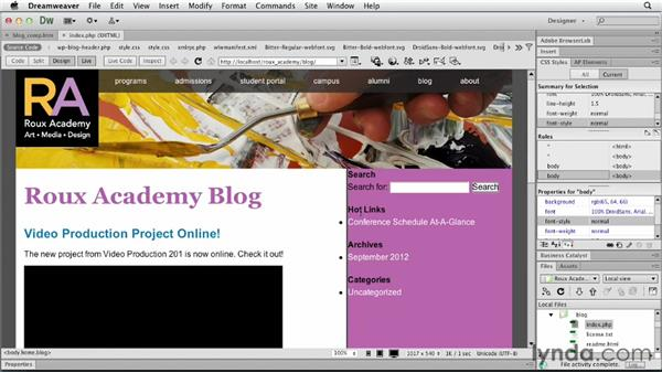 : Dreamweaver and WordPress: Core Concepts