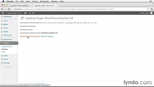 Exporting and importing WordPress files: Dreamweaver and WordPress: Core Concepts