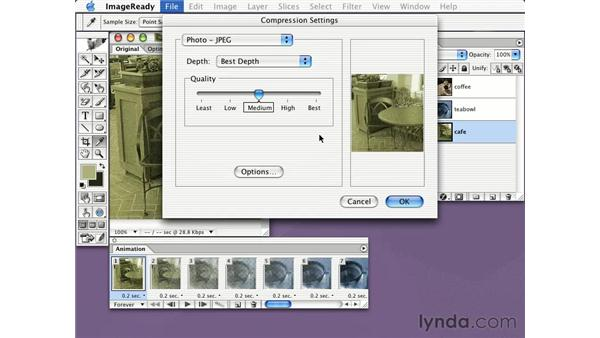 exporting Quicktime files in ImageReady: Learning Photoshop CS for the Web