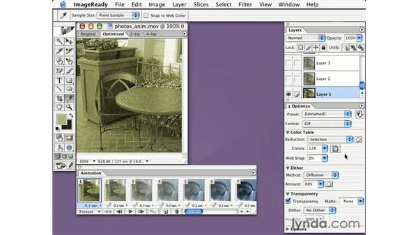 opening Quicktime files in ImageReady: Learning Photoshop CS for the Web