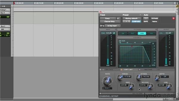 Using the compressor during recording: Audio Recording Techniques