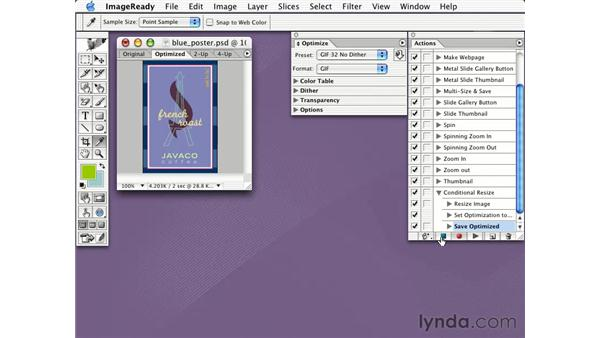 conditional actions: Learning Photoshop CS for the Web