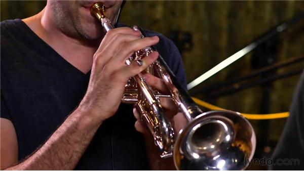 Recording the horn section part: Audio Recording Techniques