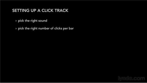 Setting up a click track: Audio Recording Techniques
