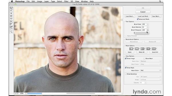 Using Liquify to make minor adjustments: Enhancing an Environmental Portrait with Photoshop