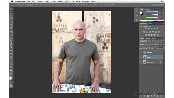 Merging layers and double-checking your progress: Enhancing an Environmental Portrait with Photoshop
