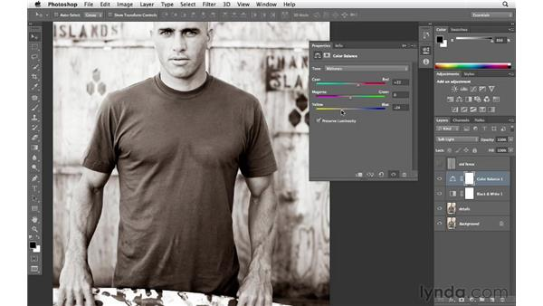 Creating a sepia-toned black-and-white effect: Enhancing an Environmental Portrait with Photoshop