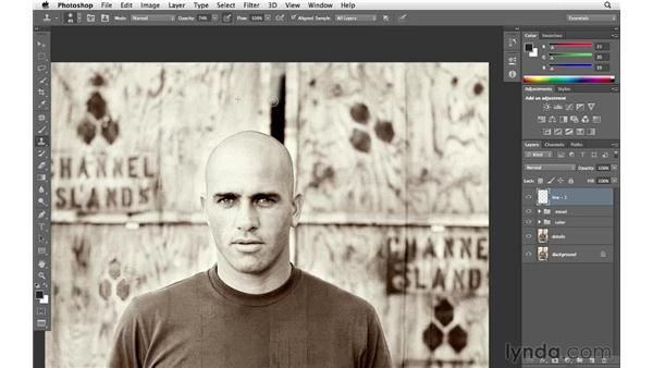 Retouching the background: Enhancing an Environmental Portrait with Photoshop