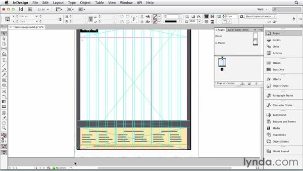 Using master pages: InDesign for Web Design