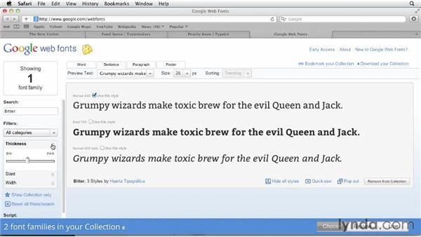 Using web fonts: InDesign for Web Design