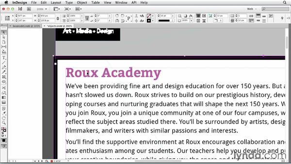 Making InDesign frames work like divs: InDesign for Web Design