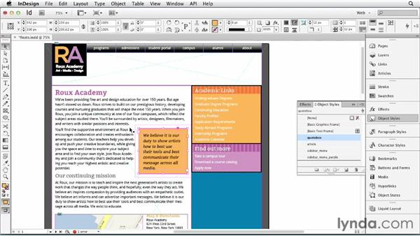 Using anchored objects and text wrap to simulate floats: InDesign for Web Design