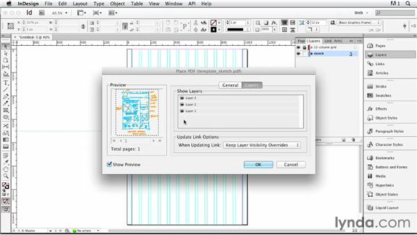 Setting up a wireframe template: InDesign for Web Design