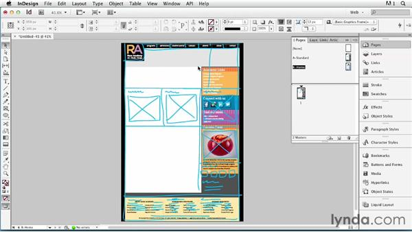 Adding layout variations with master pages: InDesign for Web Design