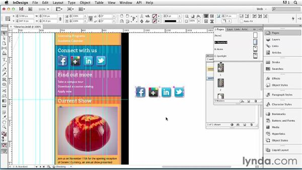Managing assets with object libraries: InDesign for Web Design