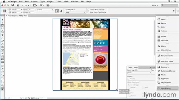 Understanding basic Liquid Layout: Scale and Recenter: InDesign for Web Design