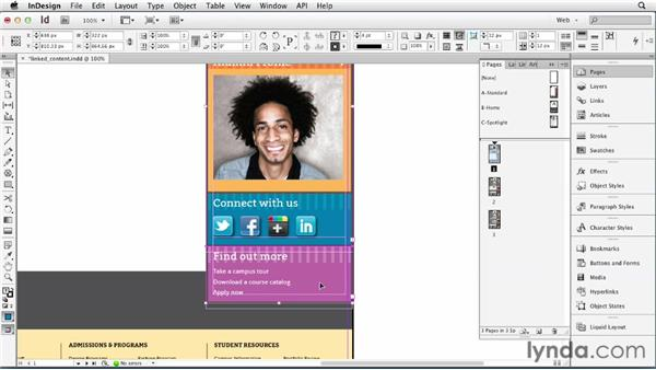 Repurposing content with the Content Conveyor and style mapping: InDesign for Web Design