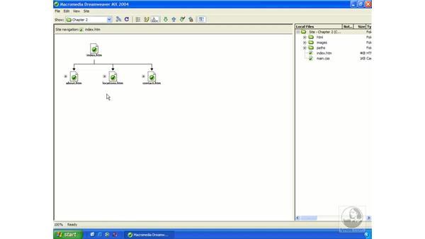 creating a site map: Dreamweaver MX 2004 Essential Training