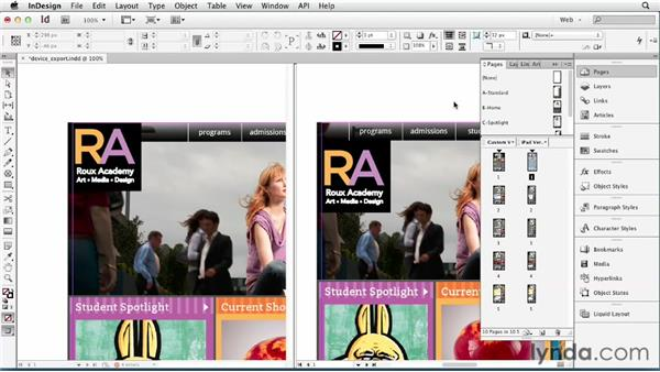 Exporting mockups at a device-specific resolution: InDesign for Web Design