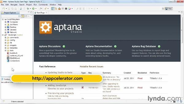 Editing file templates: Up and Running with Aptana Studio 3