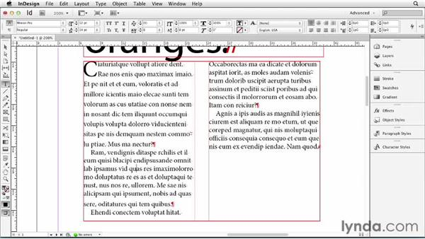 062 Adjusting leading inside a paragraph: InDesign Secrets