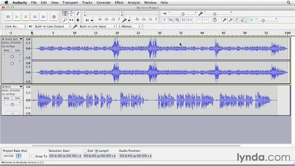 Using the exercise files: Up and Running with Audacity