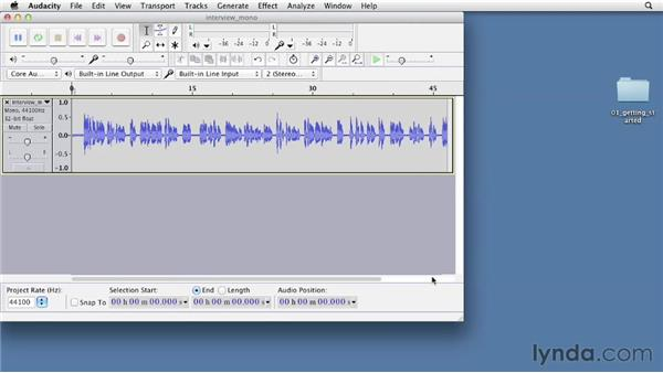 Importing audio: Up and Running with Audacity