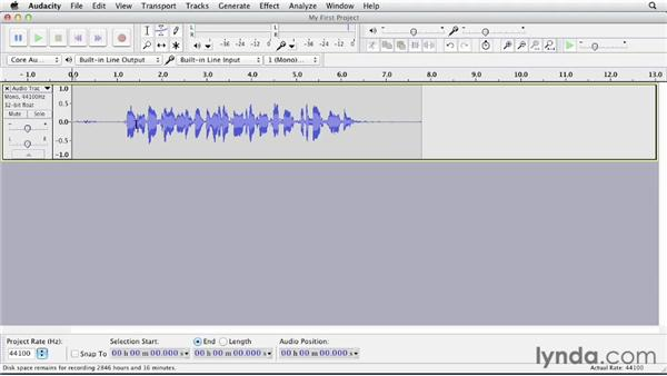 Recording: Up and Running with Audacity