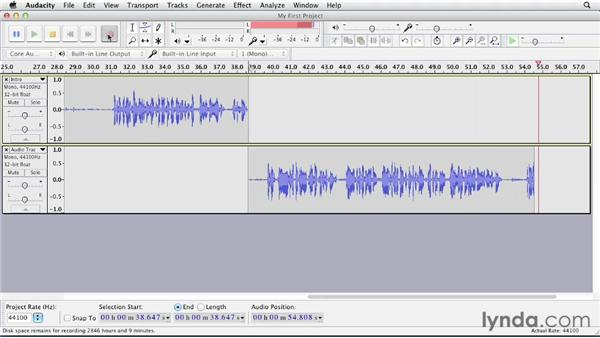 Adding tracks: Up and Running with Audacity