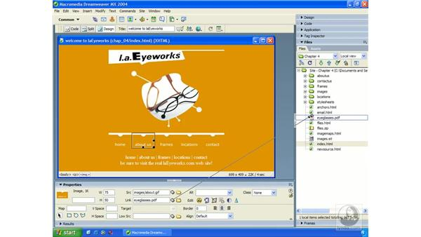 point-to-file: Dreamweaver MX 2004 Essential Training