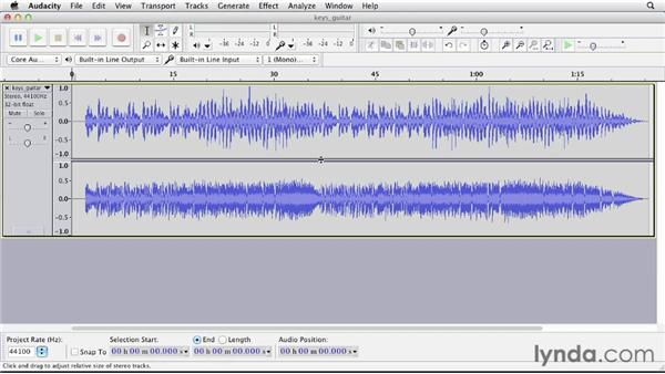 Recording to two tracks simultaneously: Up and Running with Audacity