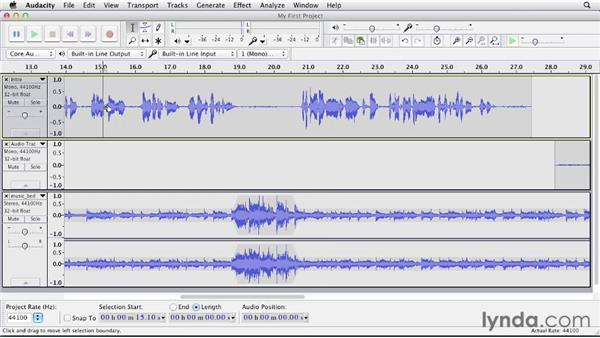 Automating volume with the Envelope tool and Auto Duck: Up and Running with Audacity