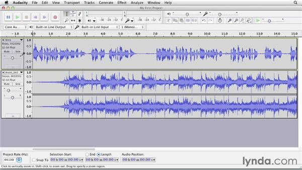 Inserting silence: Up and Running with Audacity