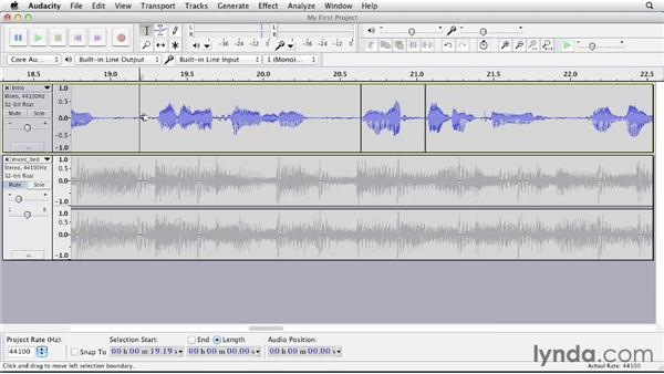 Bleeping out unwanted words and sounds: Up and Running with Audacity