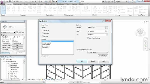 Controlling how objects are viewed in a model: Revit Structure 2013 Essential Training
