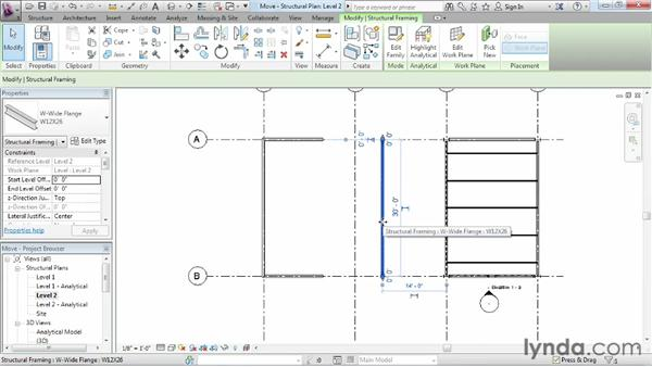 Moving objects: Revit Structure 2013 Essential Training