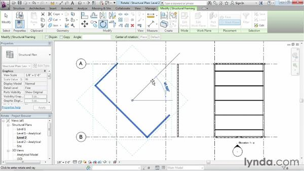 Rotating objects: Revit Structure 2013 Essential Training