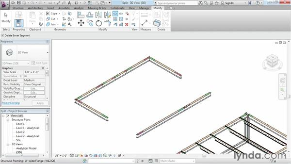 Splitting an object into pieces: Revit Structure 2013 Essential Training