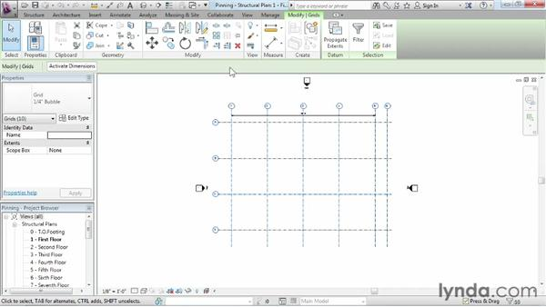 Pinning elements: Revit Structure 2013 Essential Training