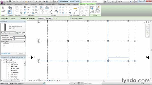 Understanding architectural columns: Revit Structure 2013 Essential Training