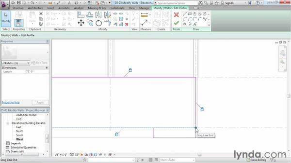 Modifying walls: Revit Structure 2013 Essential Training