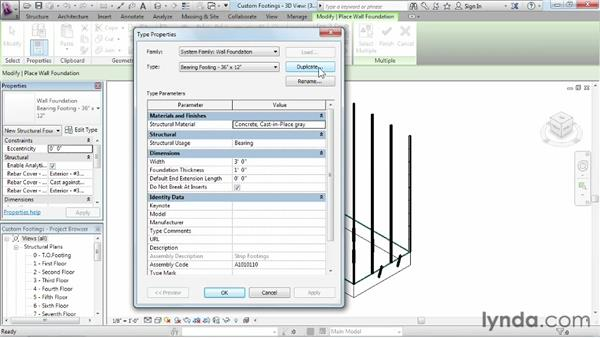 Creating and customizing footings: Revit Structure 2013 Essential Training