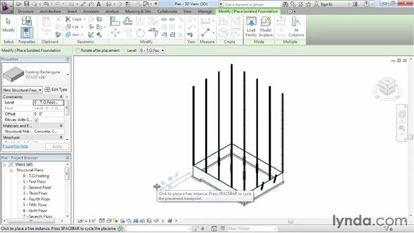 Adding piers and pilasters to a foundation: Revit Structure 2013 Essential Training