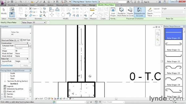 Placing rebar: Revit Structure 2013 Essential Training
