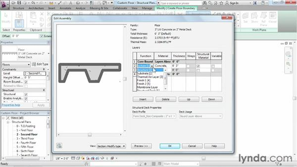 Customizing floors: Revit Structure 2013 Essential Training