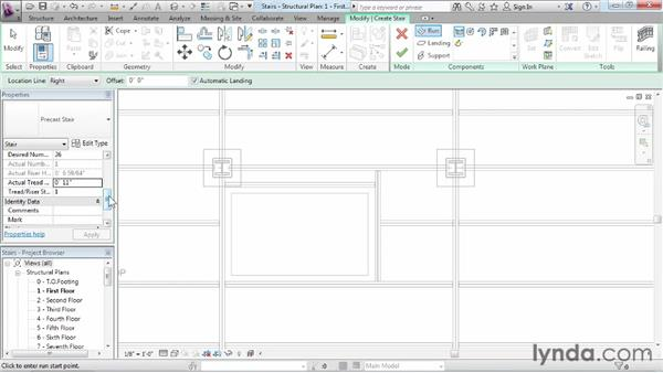Creating basic stairs: Revit Structure 2013 Essential Training